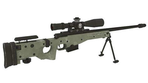3D accuracy international awm sniper rifle - TurboSquid