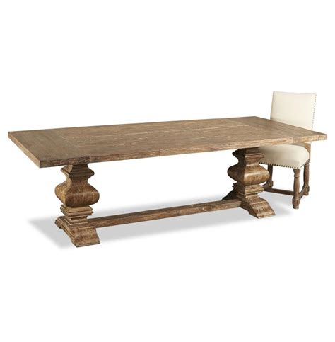 country dining table sveti country aged wood trestle base dining table 98 quot l