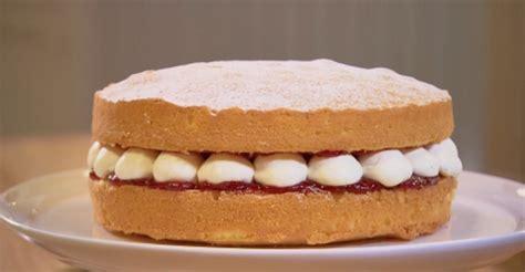 The classic victoria sponge cake is always a winner. John Whaite Victoria sponge with double cream recipe on Chopping block - The Talent Zone