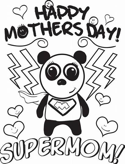Coloring Mothers Printable Mom Pages Super Mother