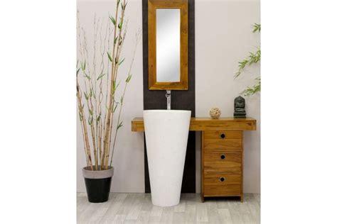 meuble salle de bain teck osiris simple vasque meubles