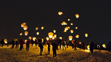 on the mountain thanks to outing club sky lantern launch news bates college