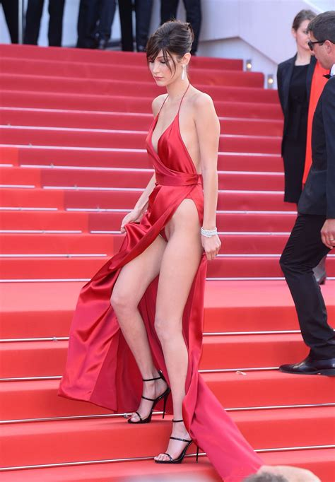 model bella hadid flashed  underwear  cannes