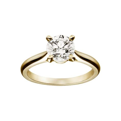 cartier solitaire  yellow gold engagement ring