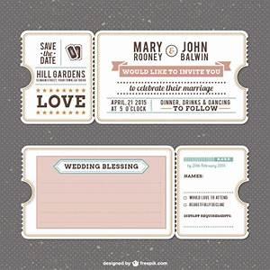 retro wedding invitation template vector free download With wedding invitations templates freepik