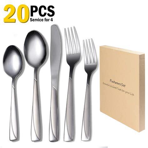 flatware rustic sets silverware deals cheap cutlery stainless piece steel modern service