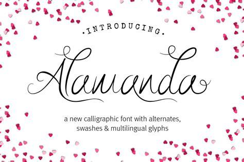 alamanda calligraphy font script fonts creative market