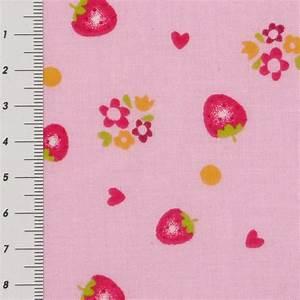 Stoff Auf Stoff Nähen : baumwolle stoff meterware erdbeeren auf rosa hintergrund ~ Lizthompson.info Haus und Dekorationen