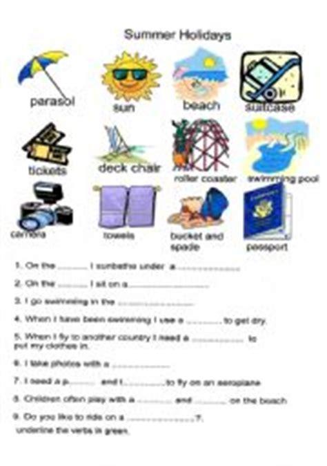 summer holidays - ESL worksheet by cathrine