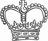 Crown Coloring Pages Royal Template Pope King Queen Drawing Colouring Crowns Netart Getdrawings Printable Getcolorings sketch template