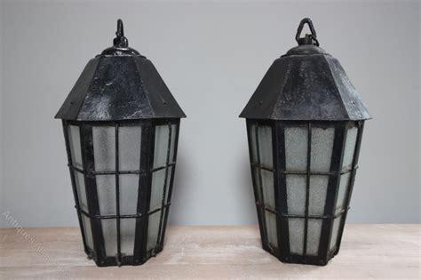 Pair Of Edwardian Antique Hall Lanterns