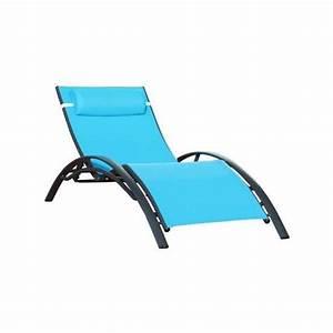 Bain De Soleil Cdiscount : bain de soleil textil ne turquoise aluminium no achat ~ Dailycaller-alerts.com Idées de Décoration