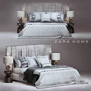3d models bed zara home bedroom set for Bedroom furniture zara home