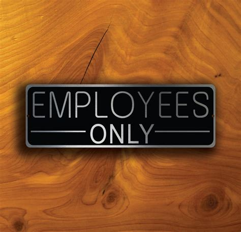 door sign employees only sign