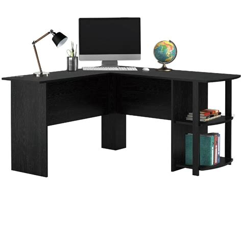 cl on desk shelf livivo l shape white office computer desk with book