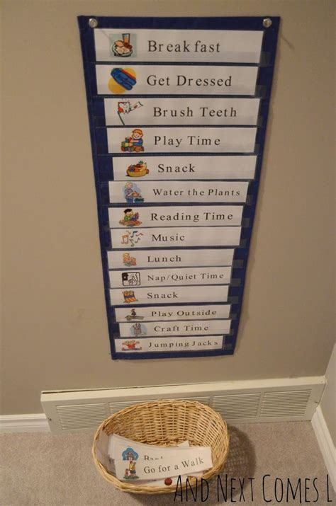 printable daily visual schedule daily schedule kids