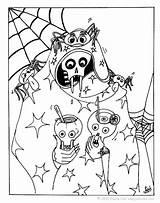Skeleton Halloween Coloring Pages Celebration Hellokids sketch template