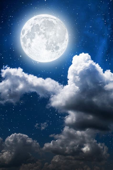 wallpaper moon clouds sky full moon hd nature