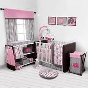 Pink Bedroom Set by Baby Girl Bedroom Set Nursery Bedding Elephants Pink Grey 10 Pc Crib Infant R