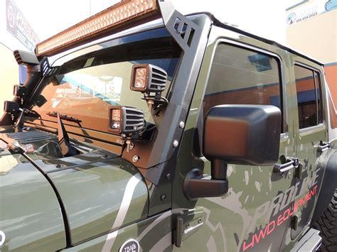 jeep jk windshield dual led mount     high quality steel plate proline wd