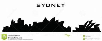 Sydney Silhouette Opera Buildings Editorial