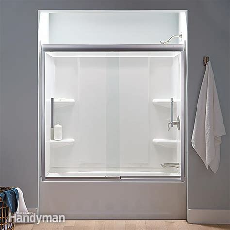 shower surrounds how to buy a new bathtub and surround the family handyman