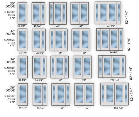 unitech windows doors 187 door sizing chart