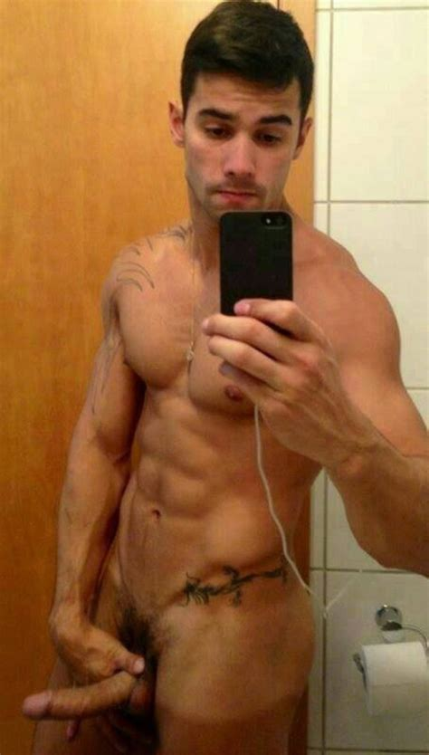 Strong Tattooed Fella Got A Hung Dick - Nude Man Cocks