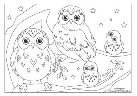 Coloring Pages Of Owl Babies Baby Owl Coloring Pages Cute