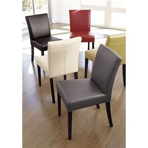 crate and barrel lowe leather side chair 1000 ideas about leather dining chairs on