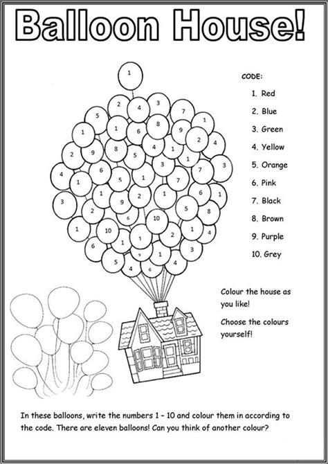 printable color  number worksheets  kindergarten tulamama