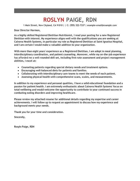 wellness cover letter examples livecareer