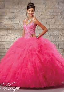 coral bridesmaid dresses embroidered and beaded bodice on a ruffled tulle skirt quinceanera dress style 89027 morilee