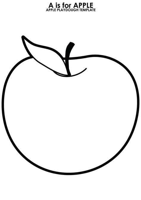 Apple Template Printable Apple Outline Printable Page