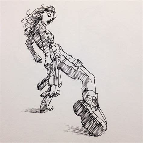 Show Tell Drawn From Some Cyberpunk Cosplay