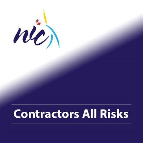 A car insurance premium calculator is a useful online tool to figure out the quotes of different insurance companies in india. Contractors All Risks - NIC Holdings Ltd