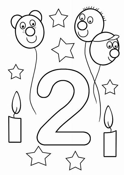 Coloring Birthday Pages 2nd Sheet English Popular