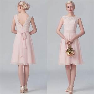 Short blush bridesmaid dresses good dresses for Short pink wedding dresses