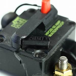 Waterproof 50 Amp Manual Reset Circuit Breaker 12v Car