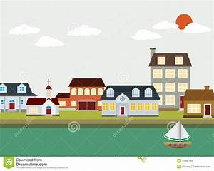 Cartoon Town - Vector Landscape Stock Photos - Image: 31641763