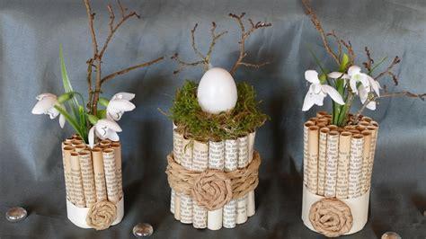 fruehlings und osterdeko basteln mit alten buchseiten tinker spring decoration   book