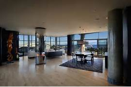 Luxurious Penthouse Dramatic Interior Luxury Penthouse Apartment With 360 Degree Views Over Victoria Canada
