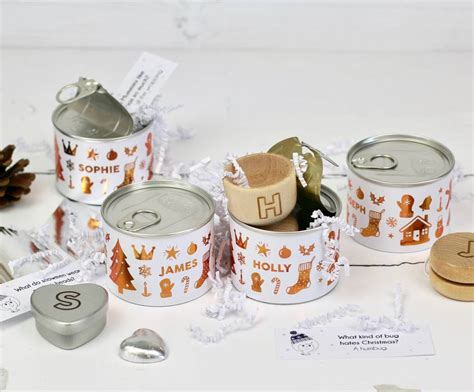 alternative personalised christmas cracker in tin by