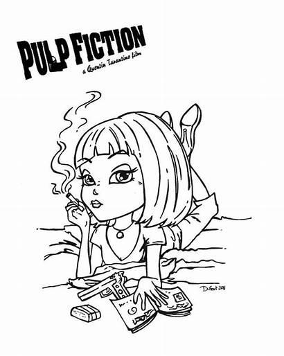 Fiction Pulp Jadedragonne Deviantart Coloring Pages Digital
