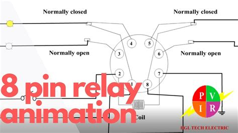 electrical relay animation electrical relay working animation 8 pin relay working