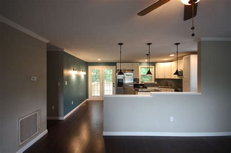 Kitchen Living Room Half Wall by Half Wall Between Kitchen And Family Room Maybe One Day