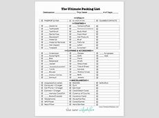 Printable Packing List for A Trip! Definitely using this