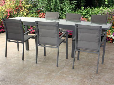 table et chaises de jardin pas cher chaise jardin textilene couleur