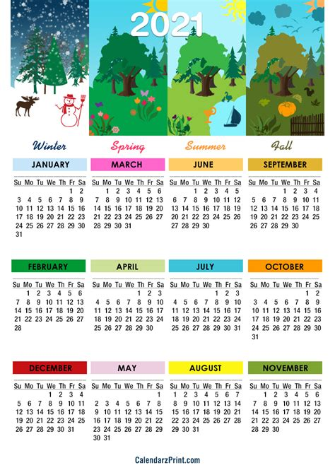 calendar printable   seasons calendar sunday