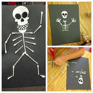 skeleton craft ideas  pinterest halloween